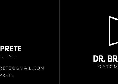 Dr. Brandon Prete - Business Cards