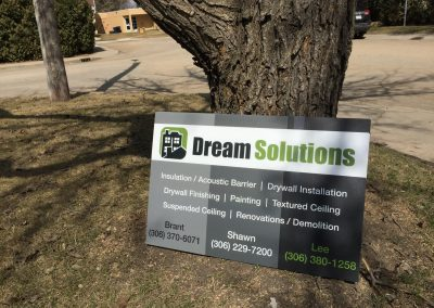 Dream Solutions - Lawn Sign