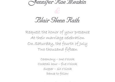 Jennifer Meakin - Wedding Invites