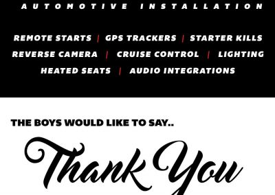 NextGen Automotive Installation - Thank You Cards