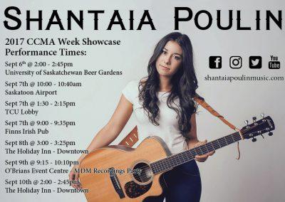 Shantaia Poulin - Promo Card