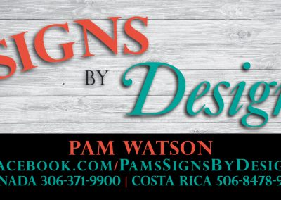 Signs by Designs - Business Cards