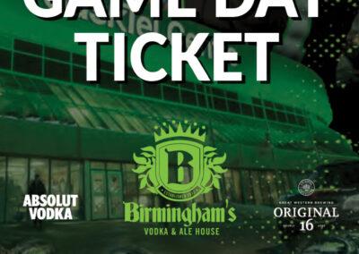 Birmingham's - Rush Tickets