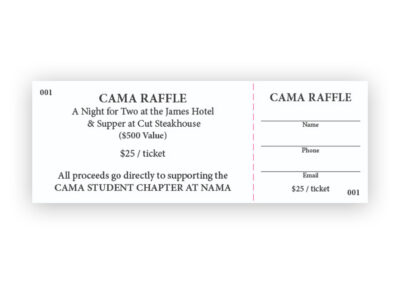 CAMA Student Chaper - Raffle Tickets