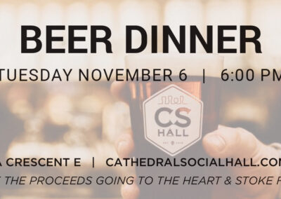 Cathedral Social Hall - Beer Dinner Tickets