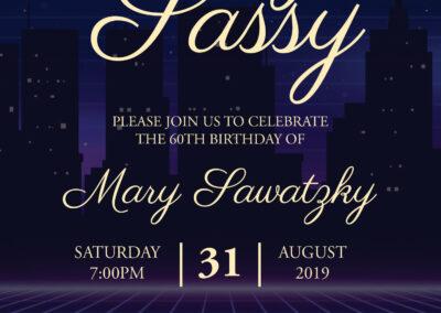 Mary Sawatzky - Party Invite