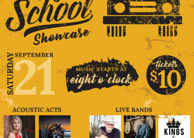 Saskatchewan Country Music Association 11x17 Back To School Poster