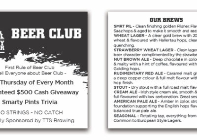 Thirsty Scholar - Beer Club Business Cards